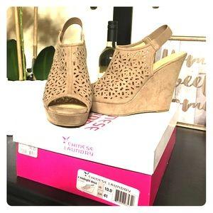 Cute wedge dress shoes
